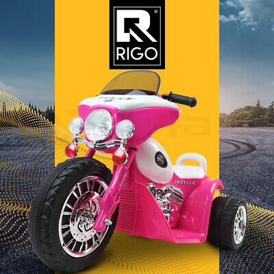 Kids Ride On Motorcycle Motorbike Car Harley Style Electric Toy Police Pink