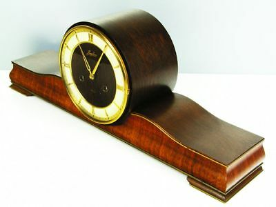 Rare Beautiful Later Art Deco Junghans Chiming Mantel Clock From 50's
