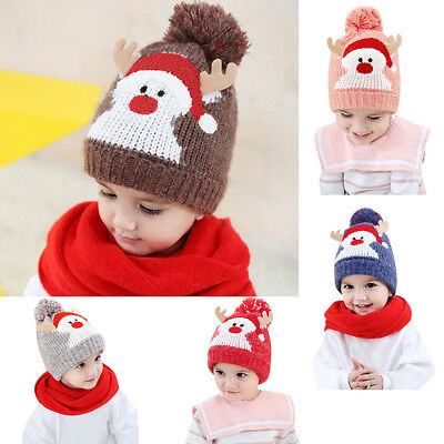 a36f4486590d0 Baby   Toddler Clothing Cute Christmas Baby Beanie For Boys Girls Cap  Cotton Hat Children Deer ...