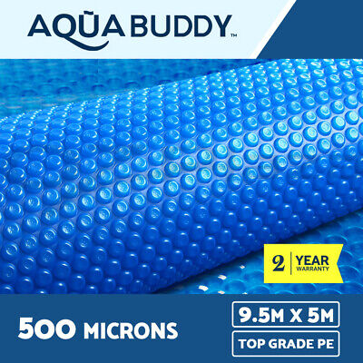 Aquabuddy Solar Swimming Pool Cover 500 Micron Outdoor Bubble Blanket 9.5M X5M