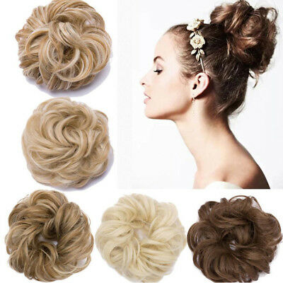 Curly Messy Bun Fake Hair Piece Scrunchie Updo Cover Hair Extensions Really UK