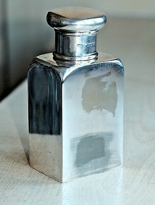 Antique Art Deco Sterling Silver Topped Plated Body Perfume Bottle Circa 1924
