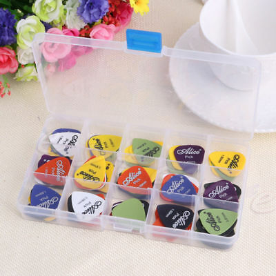 100Pcs Electric Guitar Bass Pic Acoustic Music Pick Plectrum Assorted Thickness