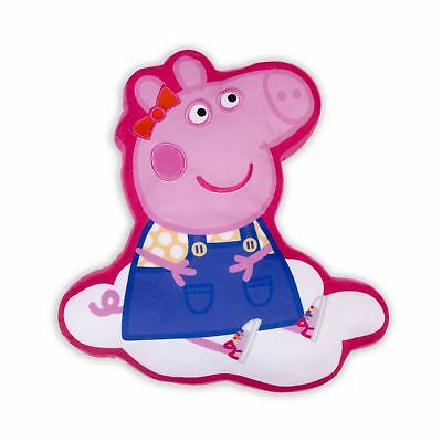 Peppa Pig 'Hooray' Plush Shaped Cushion Embroidered Girls Pink Bedroom
