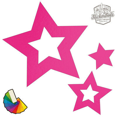 20 Star Car & Wall Stickers / Decals | Choose from 30 Colours S2