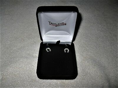 Taylor Brands Horseshoe Earrings NIB New in Box Stunning Western Cowgirl Lucky