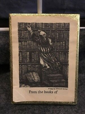 Vintage Edward Gorey Ex Libris book plate 1953 Antioch Publishing - per each