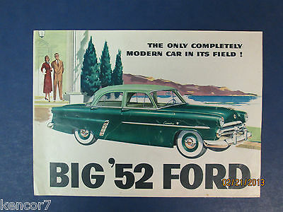 1952 Ford Full Line Sales Brochure D6718