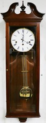 Vintage Comitti Of London Mahogany & Glass Musical Westminster Chime Wall Clock