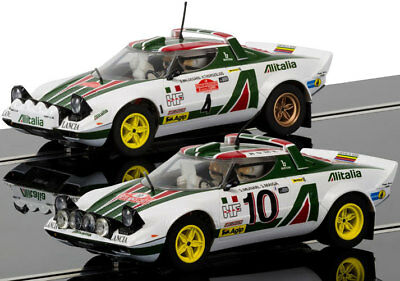 Scalextric C3894A Legends Lancia Stratos 1976 Rally Twinpack Slot Car