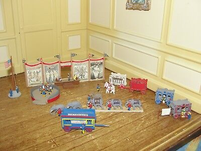 Dollhouse Miniature Hand-Carved Wood Circus w Accessories