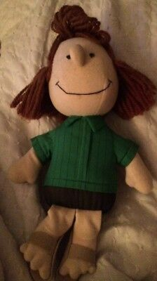 Peppermint Patty 1982 Vintage Plush Stuffed Doll United Feature Peanuts 80's