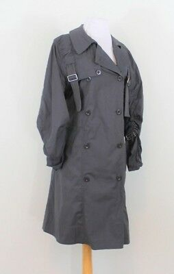 Marc By Marc Jacobs Gray Trench Buckle Pleated Knee Coat Jacket Large L 12