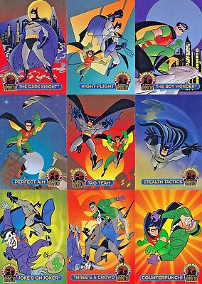 Batman & Robin Action Packs 1996 Fleer/skybox Complete Base Card Set Of 36 Dc
