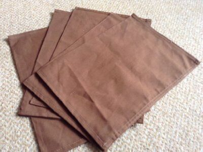 5 Heavy Duty ,bank Commercial Quality Brown Cloth Cash Coin Notes Bank Bags By I