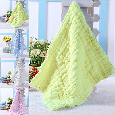 4pcs Soft Cotton Baby Infant Newborn Bath Towel Washcloth Feeding Wipe Cloth
