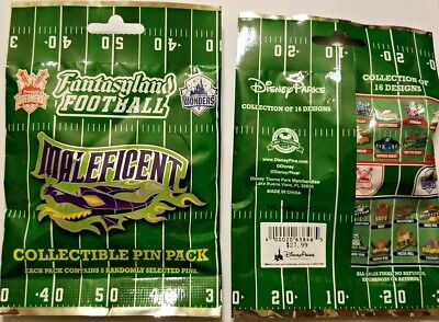 Disney Collectible Pin Pack FANTASYLAND FOOTBALL Mystery Bag 5 Pins Sealed NEW