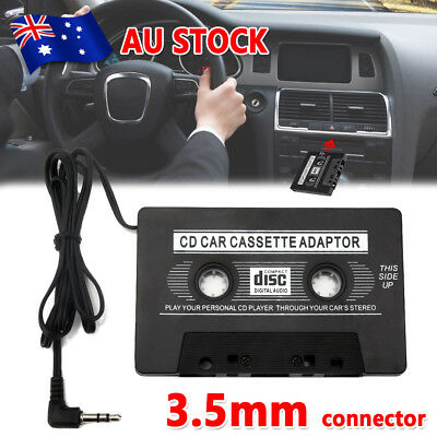 Car Tape Cassette Adapter 3.5mm Music AUX Audio Converter for iPhone iPod MP3
