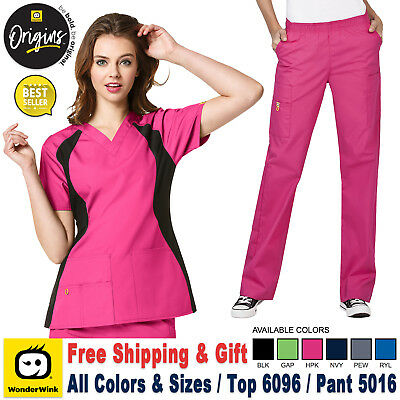 Wonderwink Origins (XS-3XL) Damen Medizinisch Scrub Top & Hose Set