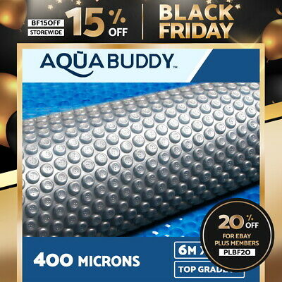 Aquabuddy 6MX3.2M Solar Swimming Pool Cover 400 Micron Isothermal Blanket