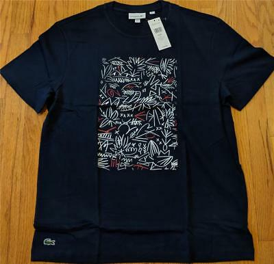 Lacoste Tshirt Multicolor Croc Graphic Jersey Lacoste TH2272 NEW Authentic