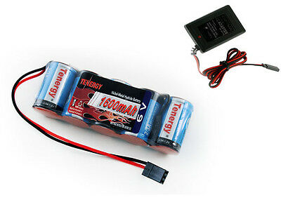 Tenergy 5 Cell 6V 1600mAh NiMH Flat Receiver Battery Pack W CHARGER Jato 2.5/3.3
