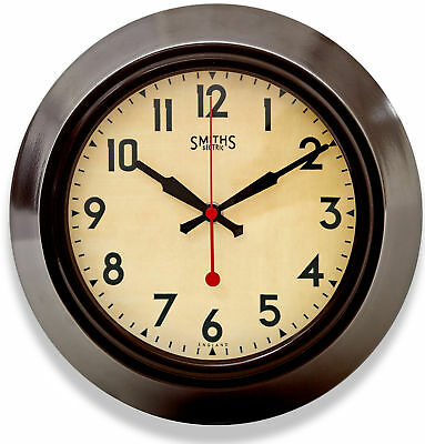 "SMITHS CLOCKS Sectric Dial Silent Sweep Seconds Hand 10.4"" Wall Clock"