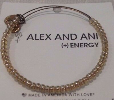 Alex and Ani Shimmering Iridescent Sea Bead RG Ex. Bracelet Extremely Rare  ❤️