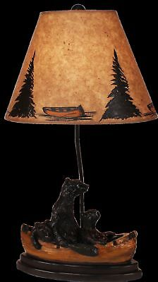 Three Black Bears On The Tree Torchiere 60 Sculptural Floor Lamp