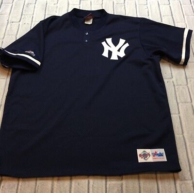 VTG nos NEW YORK YANKEES Billy Martin AUTHENTIC Mesh Sewn MAJESTIC Jersey XXL