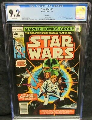 Star Wars #1 (1977) 2nd Print CGC 9.2 White Pages CM1001