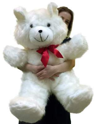 Giant White Teddy Bear 36 Inches Soft 3 Foot Teddybear Made in USA