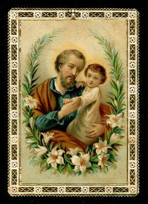 San Giuseppe 12 Santino Holy Card Image Pieuse - Lace Pizzo Canivet Dentelle