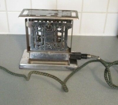 Meriden Vintage Art Deco Toaster Electric Side Folded Hinged works Home Electric