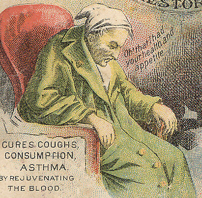 "Parker's Tonic Trade Card, Before & After Using This ""Cure All"" Restorer  K204"