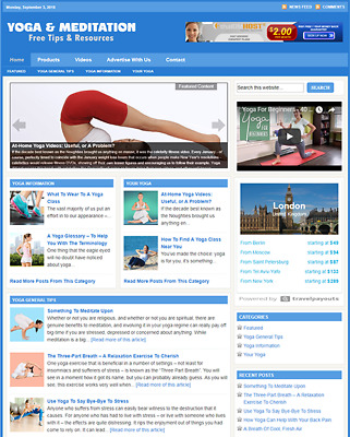 YOGA GUIDE - Responsive Niche Website Business For Sale - Free Installation