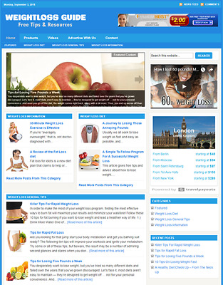 WEIGHT LOSS - Responsive Niche Website Business For Sale - Free Installation