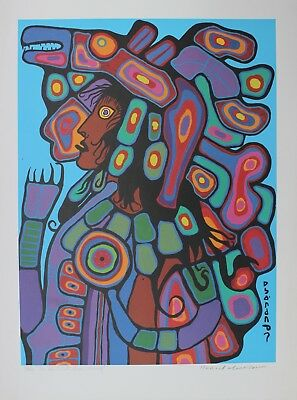 Norval Morrisseau Hand Signed Numbered Limited As The Artist Sees Himself 1992