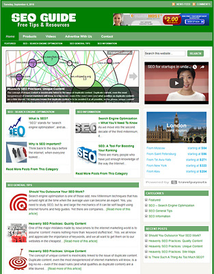 SEO GUIDE - Responsive Niche Website Business For Sale - Free Installation