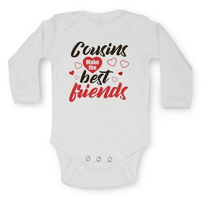 Baby Vests Bodysuits Grows Long Sleeve Funny Printed Cousins Make Best Friends