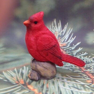 CARDINAL FIGURINE Miniature Fairy Garden Diorama Mini Bird Gift Decor 2