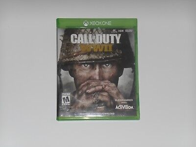 Call of Duty: WWII World War 2 Microsoft Xbox One 1 2017 RPG Video Game Complete