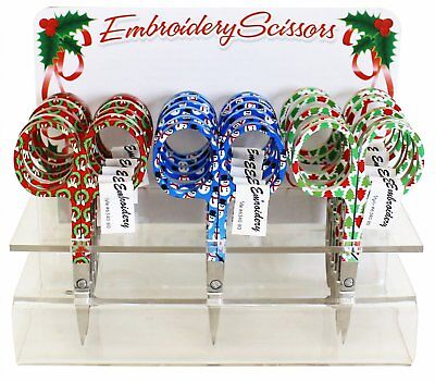 """Assorted Holiday Embroidery Scissors #6340-80, Sewing & Quilting Thread, 3.75"""""""