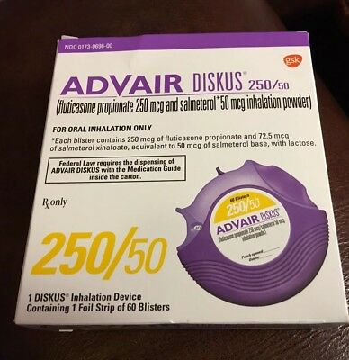 Advair Diskus 25050 New Sealed And Unused 11999 Picclick