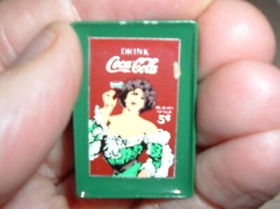 "Coca Cola Miniature Coke STEEL Coke Picture Tray 1"" Old Coke Advertisement"