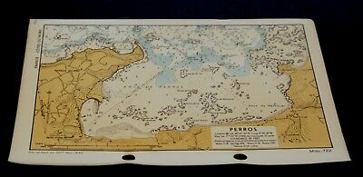 PERROS D-Day Invasion Planning of France - WW2 Naval Map 1943