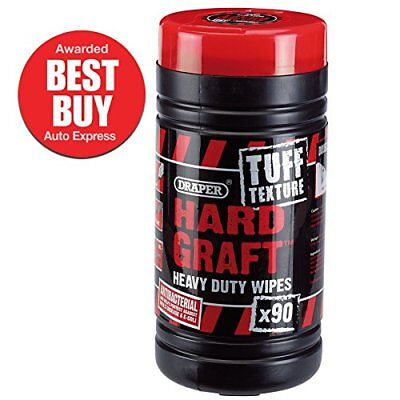 84712 Tuff Texture Heavy Duty Hard Graft Wipes, Tub of 90