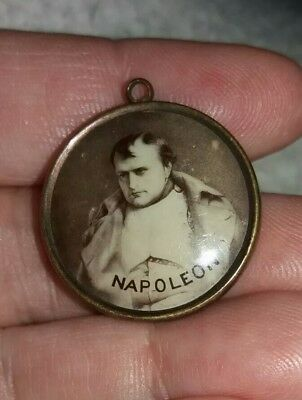 Rare Antique French Fob Charm - Napoleon & Josephine Double Sided