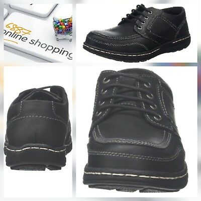 Mens Hush Puppies Volley Victory Smart Lace Up Derby Casual Shoes UK 10 BLACK 🆕