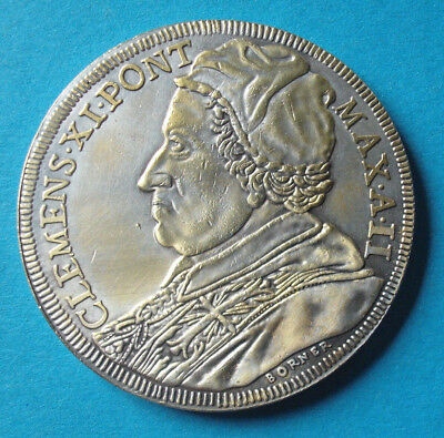 Scudo Vatikan 1702 Papst Clemens XI.Medaille mit 46 mm+38 g